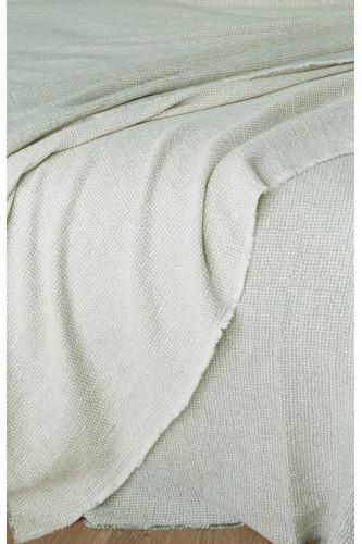 Plaid réversible en tissu jacquard, motif pointillé