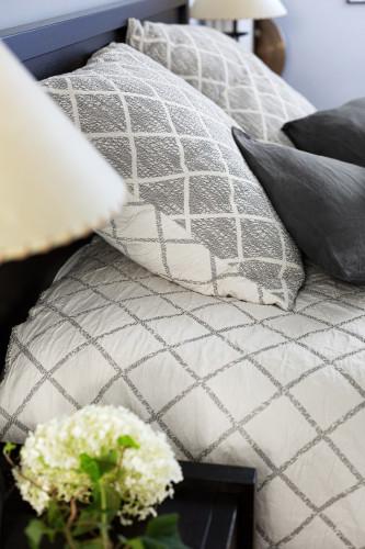 Housse d'oreiller 65x65 coordonnée avec fermeture à glissière